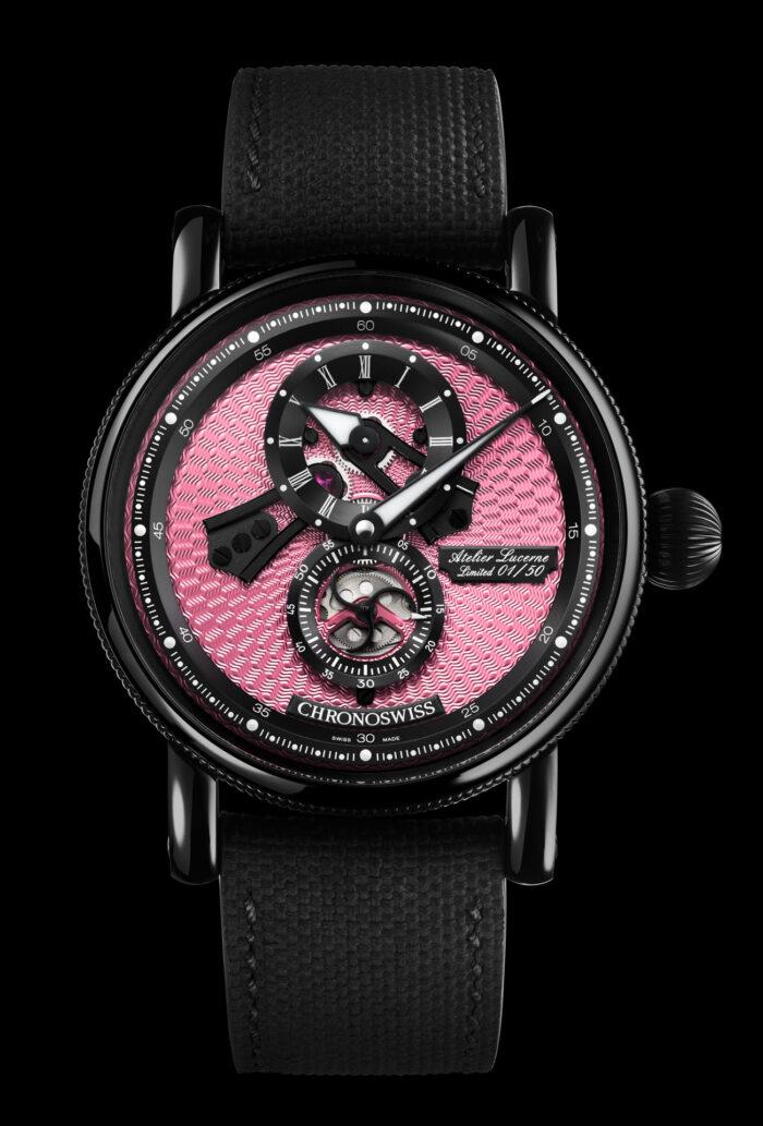 Chronoswiss Flying Regulator Open Gear Pink Panther 5