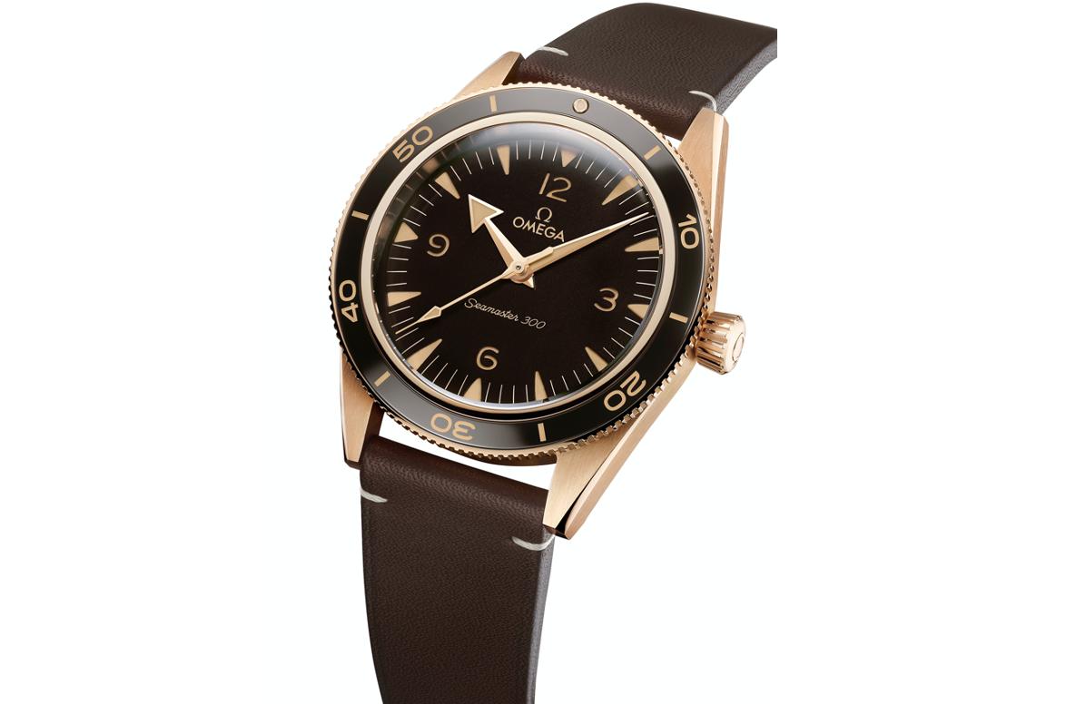 Omega Seamaster 300 a la lupa bronze gold