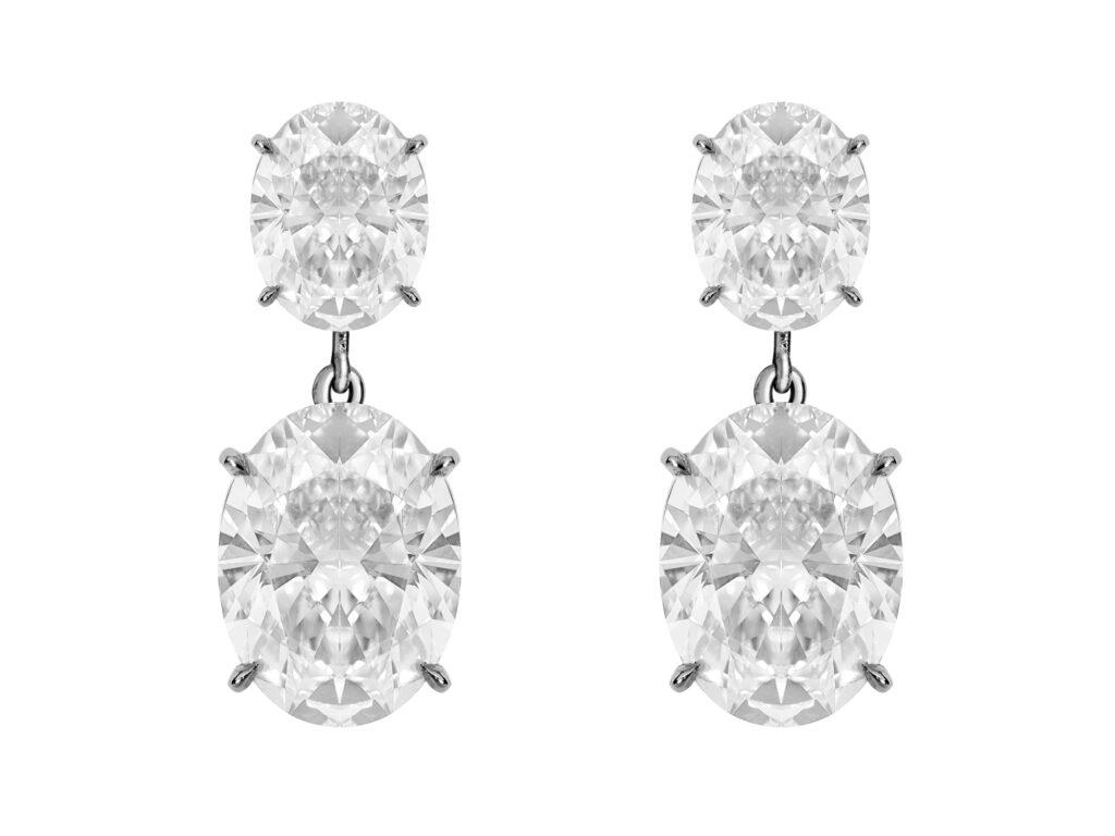 ARETES DE DIAMANTES OVAL EN ORO BLANCO REF. 46723E copia