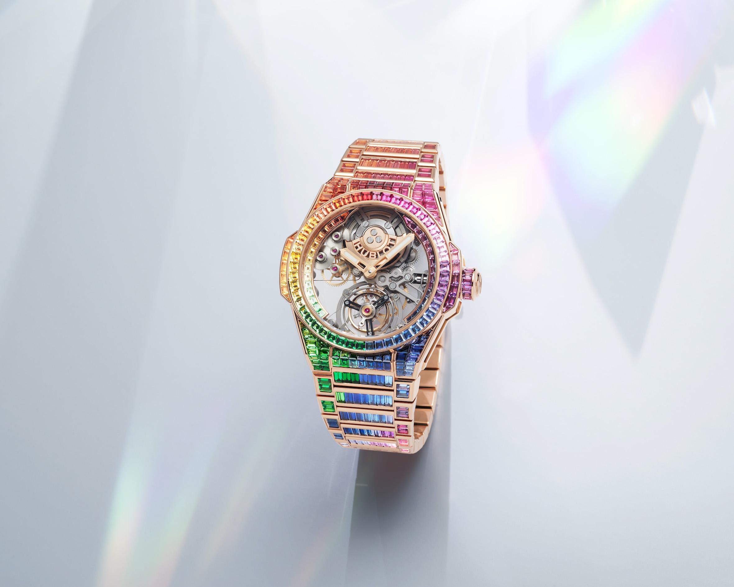 Hublot Big Bang Integral Tourbillon Rainbow King Gold 2