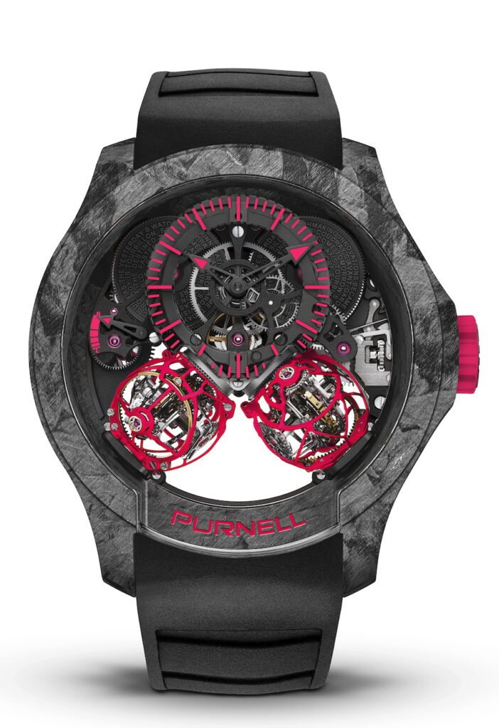 Purnell.- Escape II Forged Carbon Neon Pink 48mm